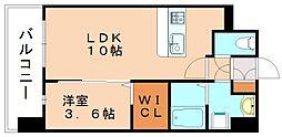 グランドクリーンヒット松田[5階]の間取り