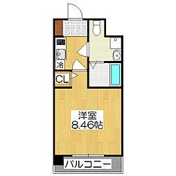 レジディア京都駅前[419号室]の間取り