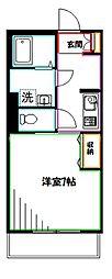 Chichiri 3階1Kの間取り