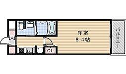 クレアートクラウン天王寺[704号室]の間取り