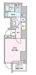 東京メトロ千代田線 赤坂駅 徒歩2分の賃貸マンション 8階1Kの間取り