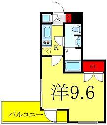 ビバリーホームズ赤塚公園II 2階1Kの間取り