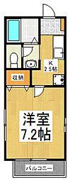 メゾン・サカエ[1階]の間取り