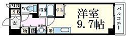 神戸新交通ポートアイランド線 貿易センター駅 徒歩1分の賃貸マンション 2階1Kの間取り