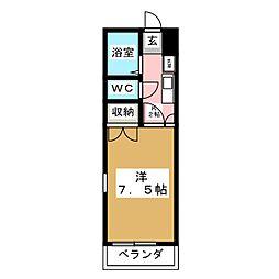 レジデンス佐々木[3階]の間取り