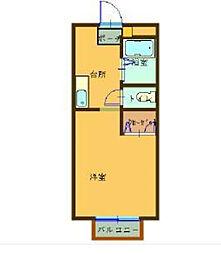 神奈川県横浜市金沢区六浦1丁目の賃貸アパートの間取り