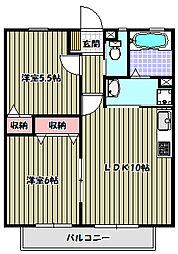 エスポワールIIB棟[1階]の間取り