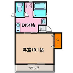 IMAZUハイツ島田[202号室号室]の間取り