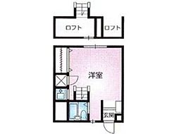 セゾンクレール[1階]の間取り