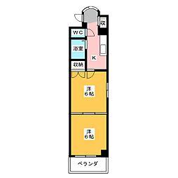 シャトーオオタ[6階]の間取り