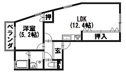 ハイツ糀屋II[2-E号室]の間取り