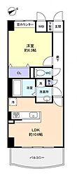 ベルファミーユ高根台III[4階]の間取り