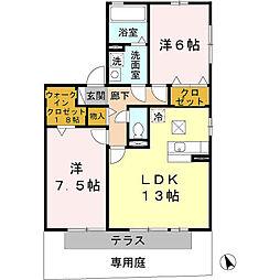ラッフィナート B棟[1階]の間取り