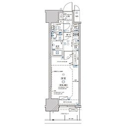 名古屋市営鶴舞線 浅間町駅 徒歩6分の賃貸マンション 3階1Kの間取り