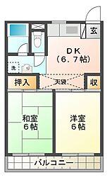 東京都三鷹市大沢3丁目の賃貸マンションの間取り