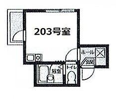 Amitie Kamata bt[203kk号室]の間取り