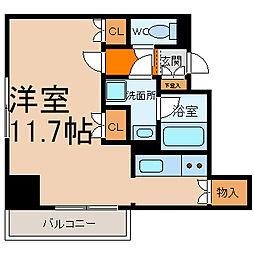 カスタリア栄[2階]の間取り