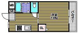 中西ハイツII[2階]の間取り