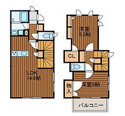 [テラスハウス] 神奈川県川崎市麻生区万福寺4丁目 の賃貸【/】の間取り