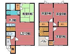 [テラスハウス] 北海道札幌市豊平区月寒西一条8丁目 の賃貸【/】の間取り