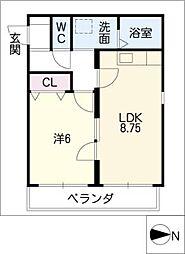 SHOEI MANSION佐古前[2階]の間取り