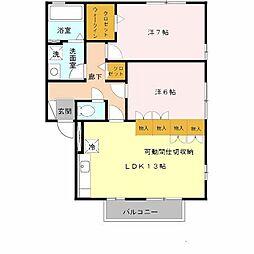 リビングタウン南花田 B棟[1階]の間取り