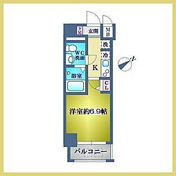 神奈川県横浜市中区野毛町3丁目の賃貸マンションの間取り