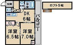 GARDEN TREE岡町[305号室]の間取り