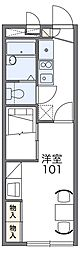 近鉄長野線 滝谷不動駅 徒歩3分の賃貸アパート 1階1Kの間取り