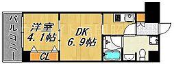 レジディア警固[2階]の間取り