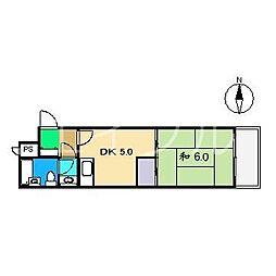 ダイアパレス升形[2階]の間取り