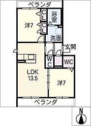 仮)ハートホーム一宮市三ツ井 B棟[2階]の間取り