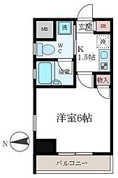 東京都江東区石島の賃貸マンションの間取り