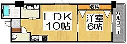 大阪府堺市堺区北瓦町1丁の賃貸マンションの間取り