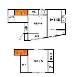 豊島3丁目戸建[1階]の間取り