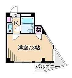 石塚ハイツ[1階]の間取り