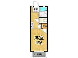 ベルエポック甲東園[1階]の間取り