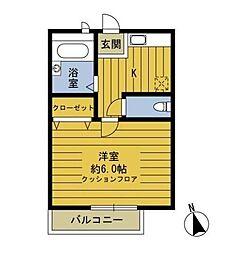 東京都板橋区東新町2丁目の賃貸アパートの間取り