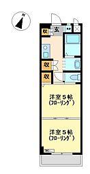 ジョイフル梶田[6階]の間取り