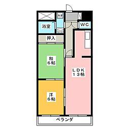 コロニアルリビング西島田ウエストタワー[5階]の間取り