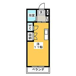 ロイヤルハイツ東八[2階]の間取り