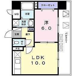 神奈川県相模原市中央区相模原4丁目の賃貸マンションの間取り