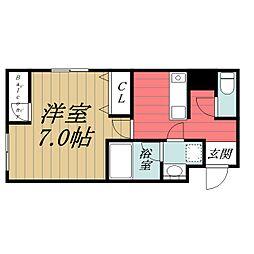 千葉県千葉市中央区新千葉3丁目の賃貸マンションの間取り