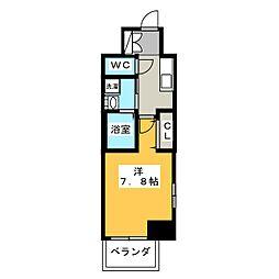 エステムコート名古屋今池アーバンゲート 11階1Kの間取り