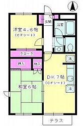 ハピイベル 湘南B棟[1階]の間取り
