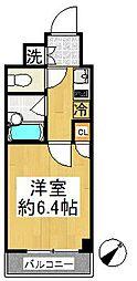 ルーブル溝の口参番館[5階]の間取り