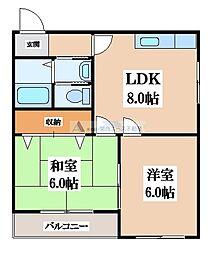 草開BLD[2階]の間取り