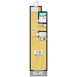 メゾンMUKAIDE[202号室]の間取り