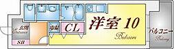 S-FORT神戸神楽町[510号室]の間取り