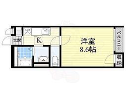 阪急京都本線 高槻市駅 バス13分 大塚下車 徒歩6分の賃貸アパート 1階1Kの間取り